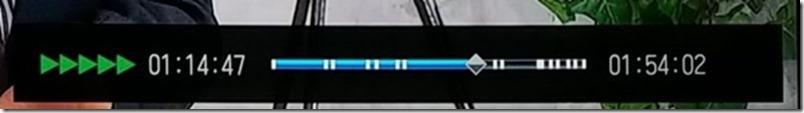 再生速度の5段階目の表示画面